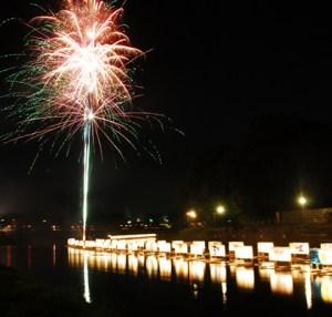 古利根川流灯まつり 花火