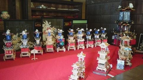 犬山祭ミニチュア車山展示