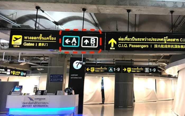 バンコク・スワンナープ空港看板