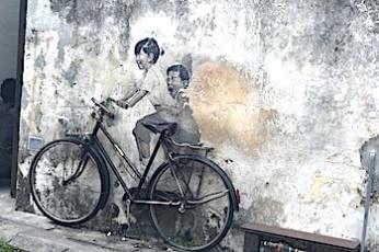 ペナンのウォールアートの画像