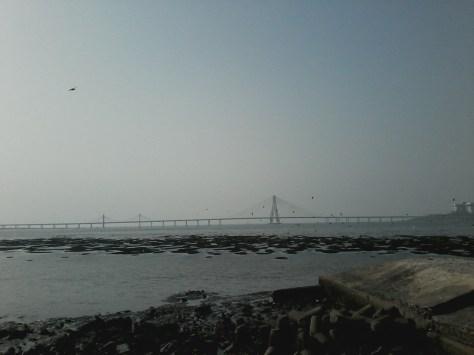 Vista para o Mar da Arabia e o Worli Sea Link