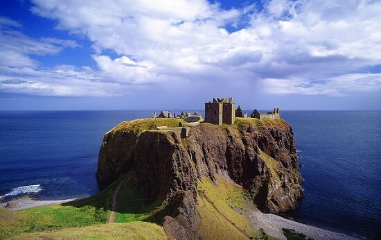 United Kingdom, UK, Scotland, Aberdeenshire, Travel Destination, Dunnottar Castle near Stonehaven town