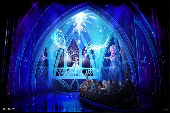 'Frozen Ever After' Attraction Rendering