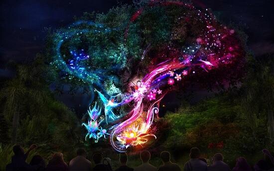 The Tree of Life at DisneyÕs Animal Kingdom -- Nighttime Artist Concept