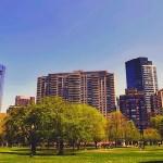 公園 街並み 風景 自然