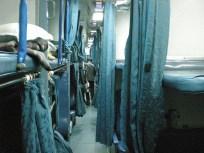 En prenant les billets dans le quotas « touristes » on a parfois des surprises. Ici upgradé de 2 classes, clim, couverture et réveil personnalisé le matin. En route pour l'Aurangabad.