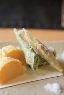 tempura maïs+patate, gombo, mioga