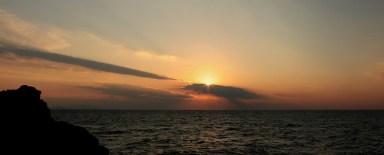 le coucher se couche sur la mer du Japon