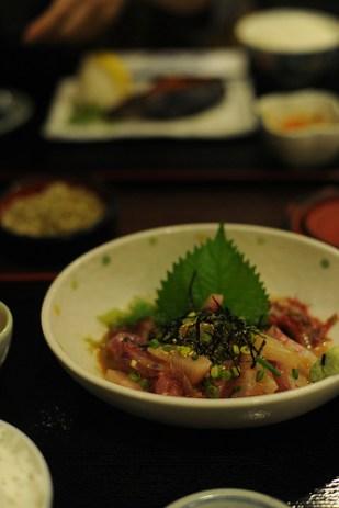 sashimi de sériole au sauce sésame