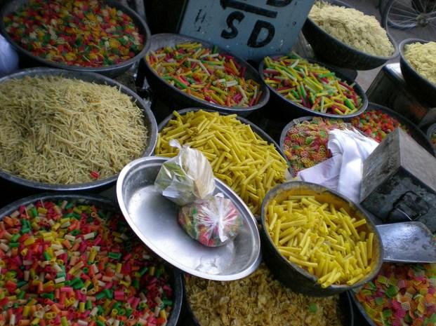 même les pâtes le sont ^^ (Jaïpur)