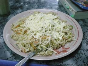 un biryani, riz sauté au fruit sec, ici. (Agra)