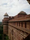 Fort d'Agra, avec les perroquets verts. Très bien seule et en matinée. (Agra)