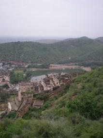 La vue de la ville de Bundi