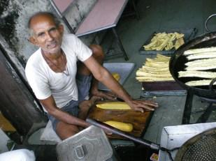 C'est super de pouvoir voir les gens cuisiner. (Ahmedabad)