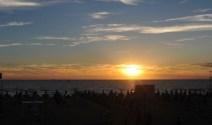 coucher de soleil à Tirrenia