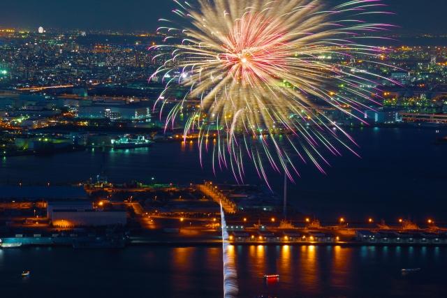 隅田川花火大会は大横川親水公園から見える!