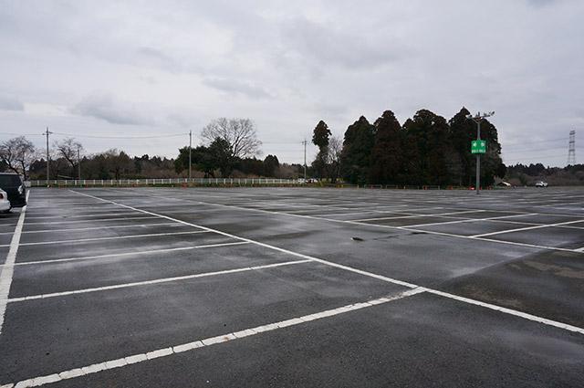 成田ゆめ牧場の雨の日の駐車場