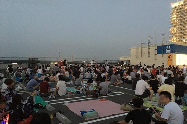 佐倉花火大会をユーカリが丘イオンの屋上からまったり見てみた♪