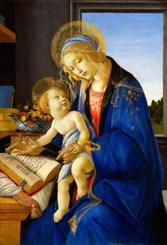 botticelli 書物の聖母子