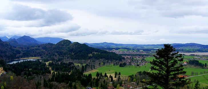 ノイシュヴァンシュタイン城から見た風景