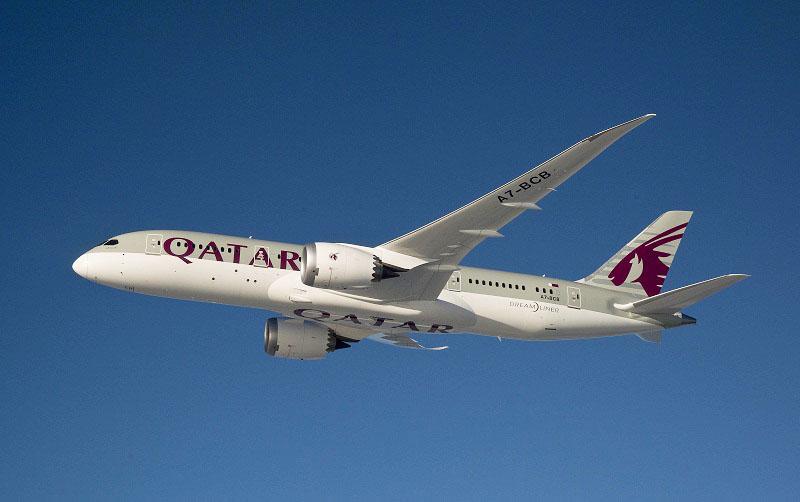 Qatar 787 Ln 58 air to air