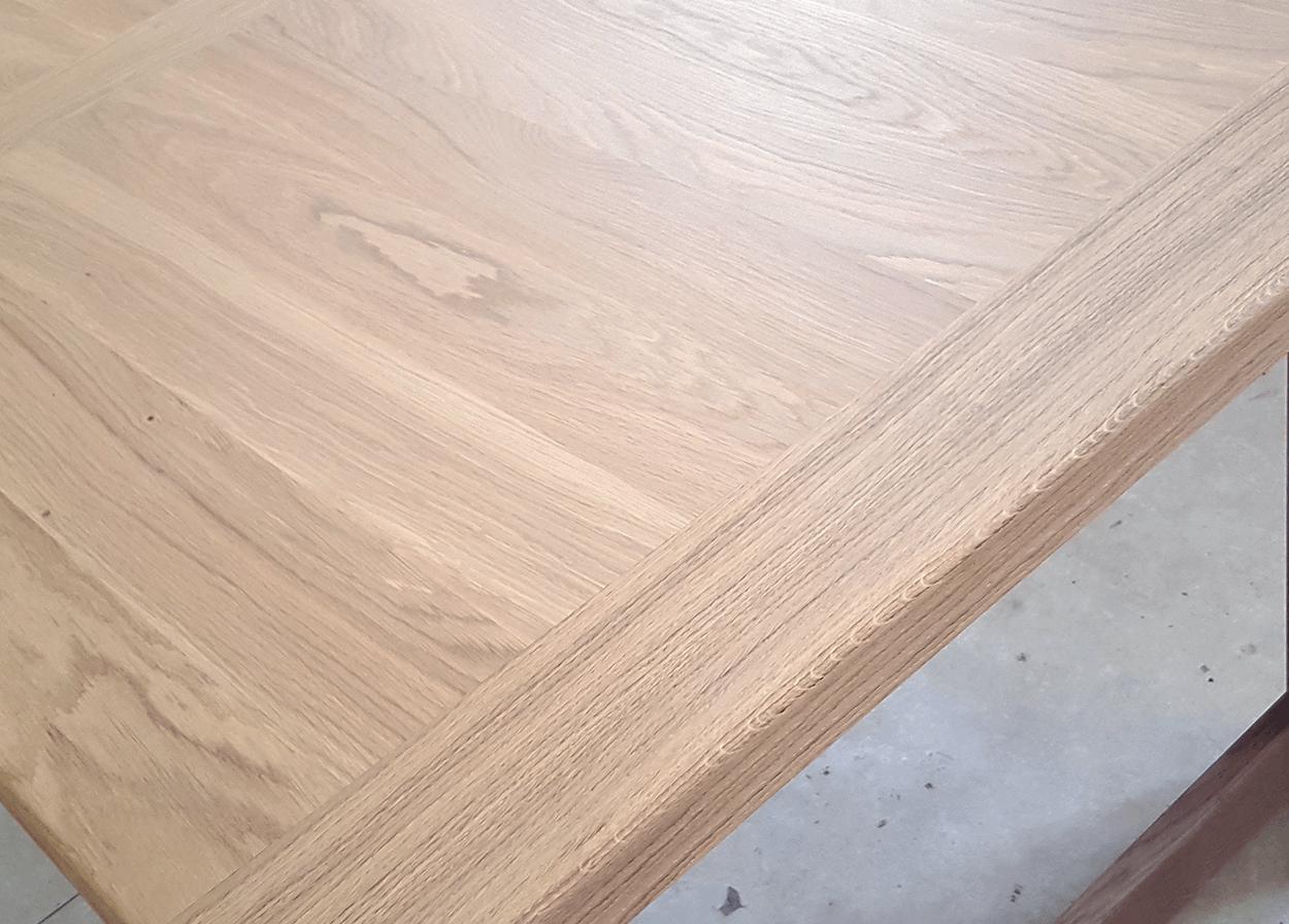 nos tables fixes en bois massif table fixe atelier bois de chene massif aspect brut