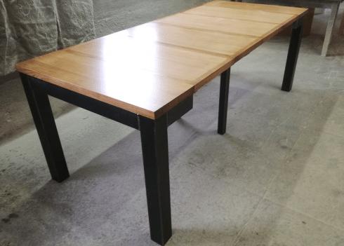 nos consoles tables extensibles en bois massif table console industriel metal extensible allonges bois de chene massif