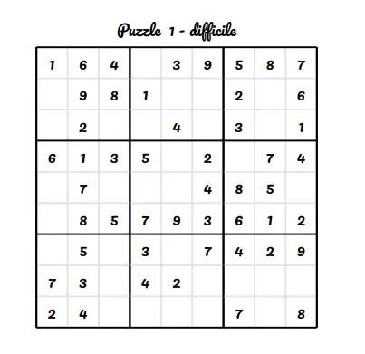 Sudoku gratuit pour la semaine 27 - 2020