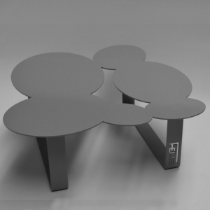 Table basse design cloudy grise