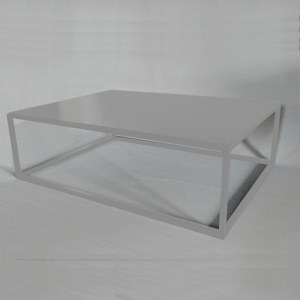 Table basse design rectangle blanche