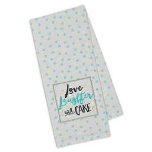 Love Laughter Cake kitchen Towel