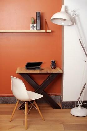 bureau ou console 40cm x 90cm poeds en X
