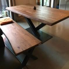 Table caractère 180x90cm avec banc