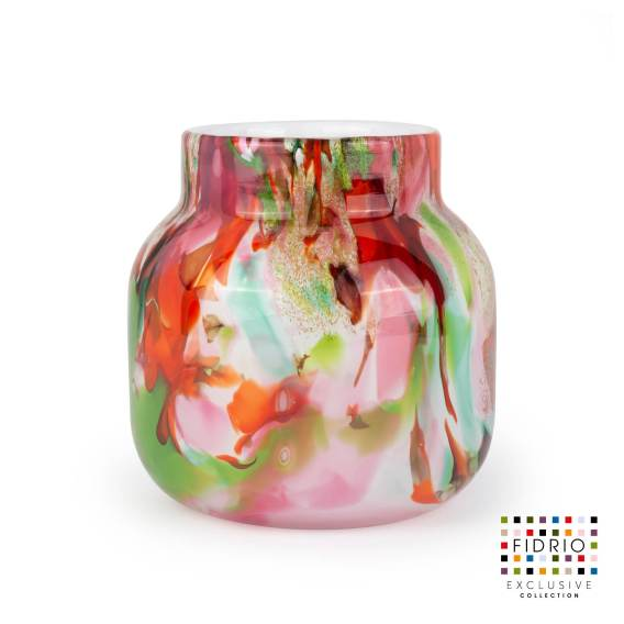 Vase Mixed colors Bloom H15
