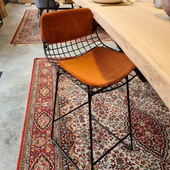 Chaise GRILLE Noire avec kit velours couleur Terracotta