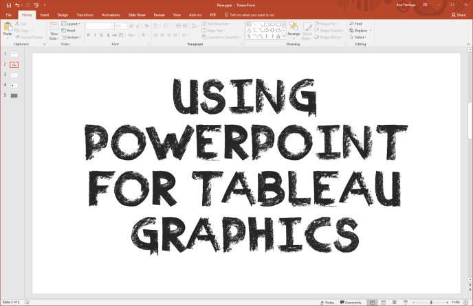 Using PowerPoint for Tableau Graphics