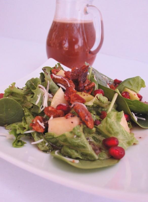 Pear Pomegranate Christmas Salad