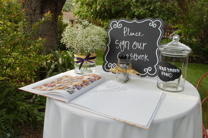 guest book and honeymoon fund