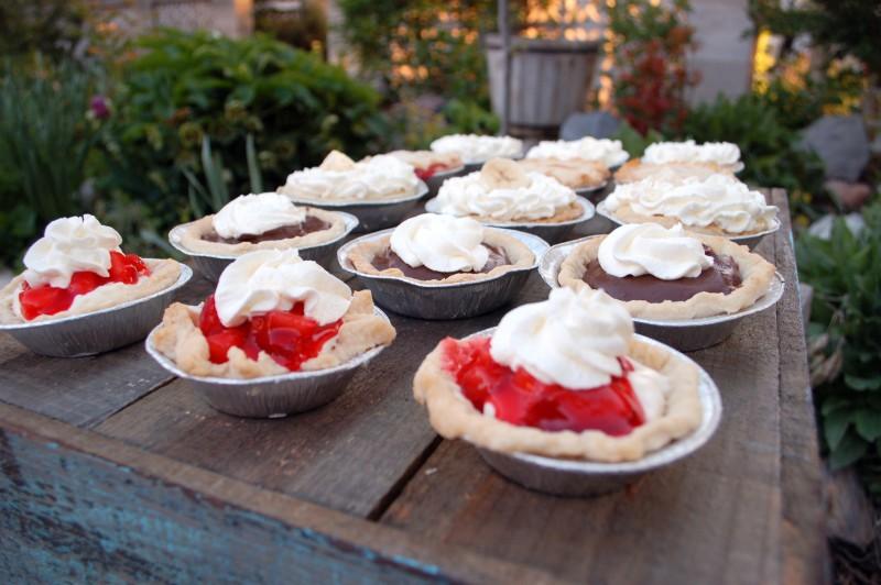 miniture pie assortment wedding buffet