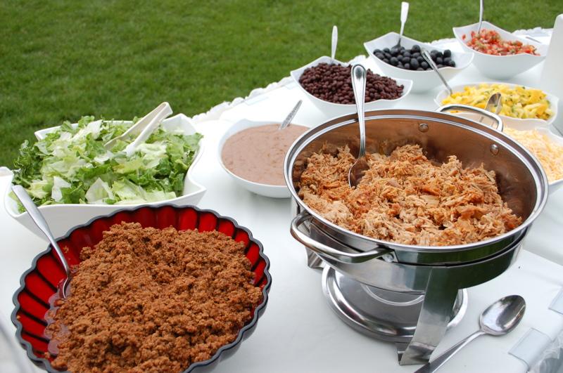 taco salad wedding buffet