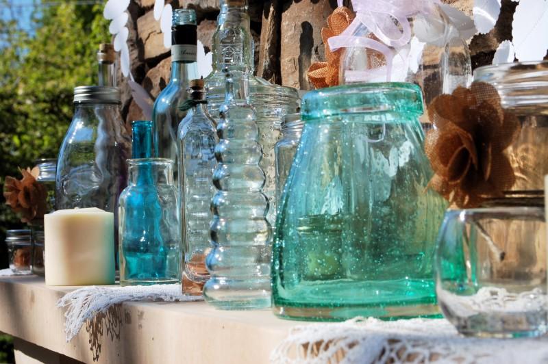 vintage-bottle-wedding-display