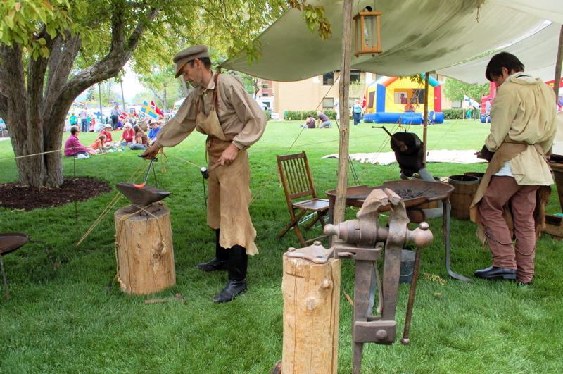 pioneer blacksmith demonstration
