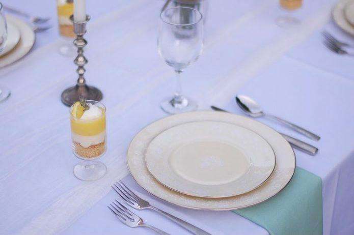 Lavender tea party china and lemon parfait