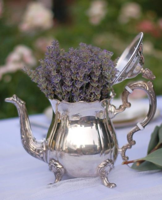 lavender tea party tea pot