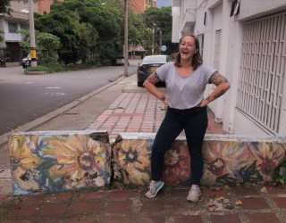 A picture of the blog's author laughing in Medellin, Colombia