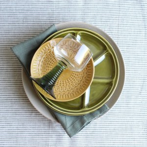 sfeer groen fonduebord