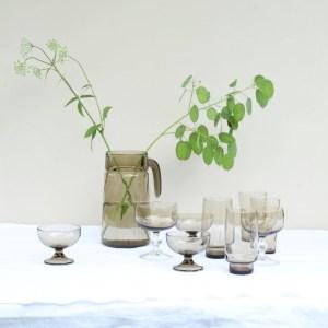 vintage rookglas op tafel