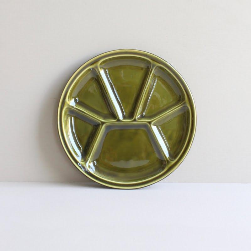 vintage fonduebord groen