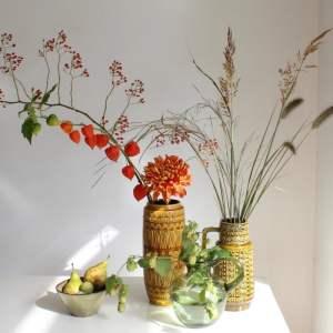 sfeer vintage vazen bessen