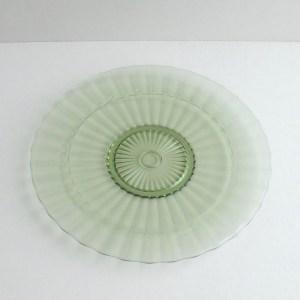 vintage schaal leerdam, groen persglas